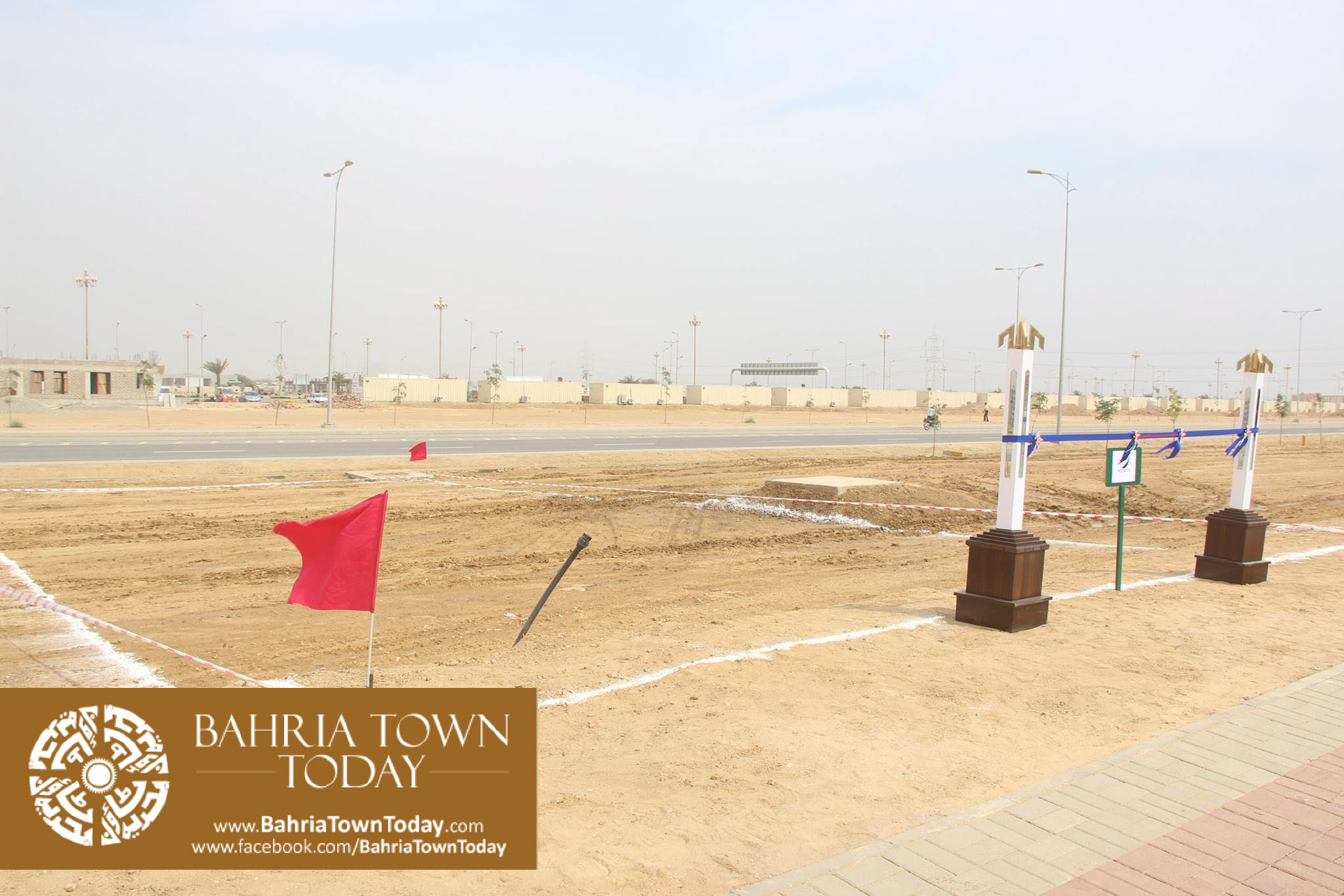 Mrs Naila Ovais takes Possession of her Plot in 'Precinct 01' of Bahria Town Karachi (1)
