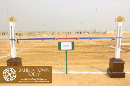 Mrs Naila Ovais takes Possession of her Plot in 'Precinct 01' of Bahria Town Karachi (2)