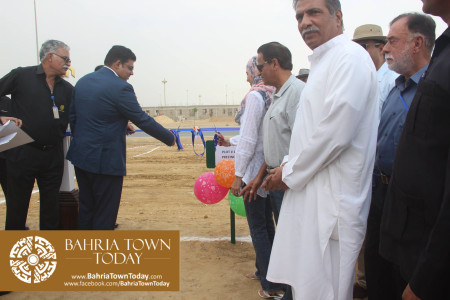 Mrs Naila Ovais takes Possession of her Plot in 'Precinct 01' of Bahria Town Karachi (5)