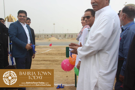Mrs Naila Ovais takes Possession of her Plot in 'Precinct 01' of Bahria Town Karachi (6)