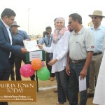Mrs Naila Ovais takes Possession of her Plot in 'Precinct 01' of Bahria Town Karachi