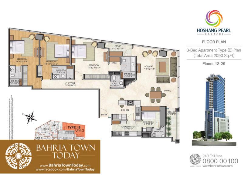3 Bedroom Floor Plan – Hoshang Pearl Apartments Karachi.jpg (1)
