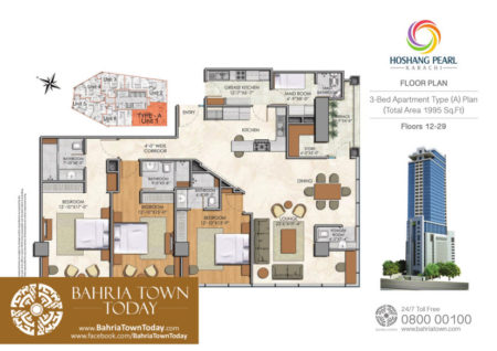 3 Bedroom Floor Plan - Hoshang Pearl Apartments Karachi.jpg (2)