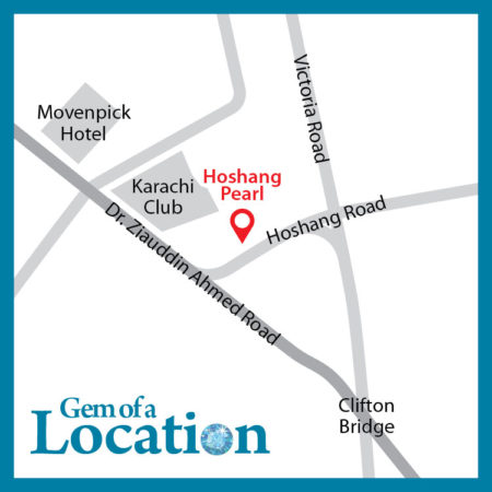 Hoshang Pearl Apartments Karach Location