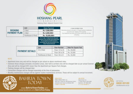 Hoshang Pearl Apartments Karachi - Payment Schedule