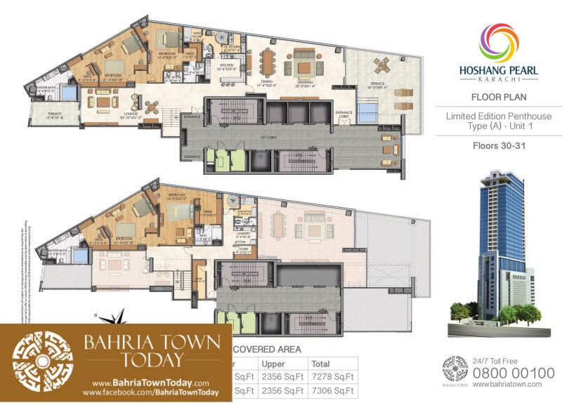Penthouse Floor Plan - Hoshang Pearl Apartments Karachi.jpg (1 ...