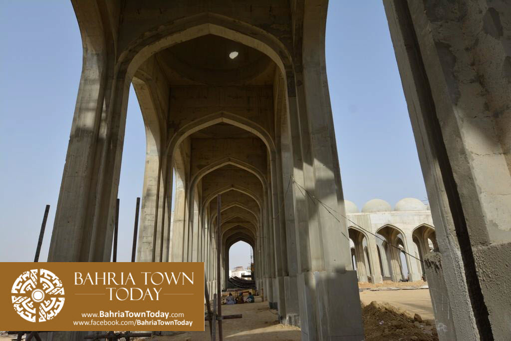 Grand Jamia Masjid Site Work Progress at Bahria Town Karachi – June 2016 (1)