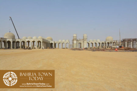 Grand Jamia Masjid Site Work Progress at Bahria Town Karachi - June 2016 (10)