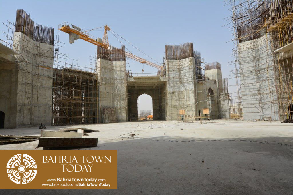 Grand Jamia Masjid Site Work Progress at Bahria Town Karachi – June 2016 (11)