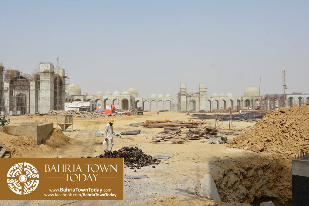 Grand Jamia Masjid Site Work Progress at Bahria Town Karachi – June 2016 (12)