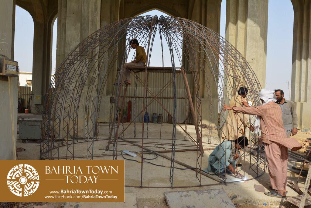 Grand Jamia Masjid Site Work Progress at Bahria Town Karachi – June 2016 (13)