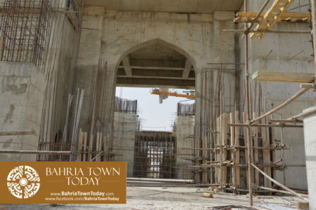 Grand Jamia Masjid Site Work Progress at Bahria Town Karachi - June 2016 (14)