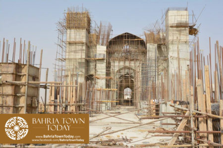 Grand Jamia Masjid Site Work Progress at Bahria Town Karachi - June 2016 (15)