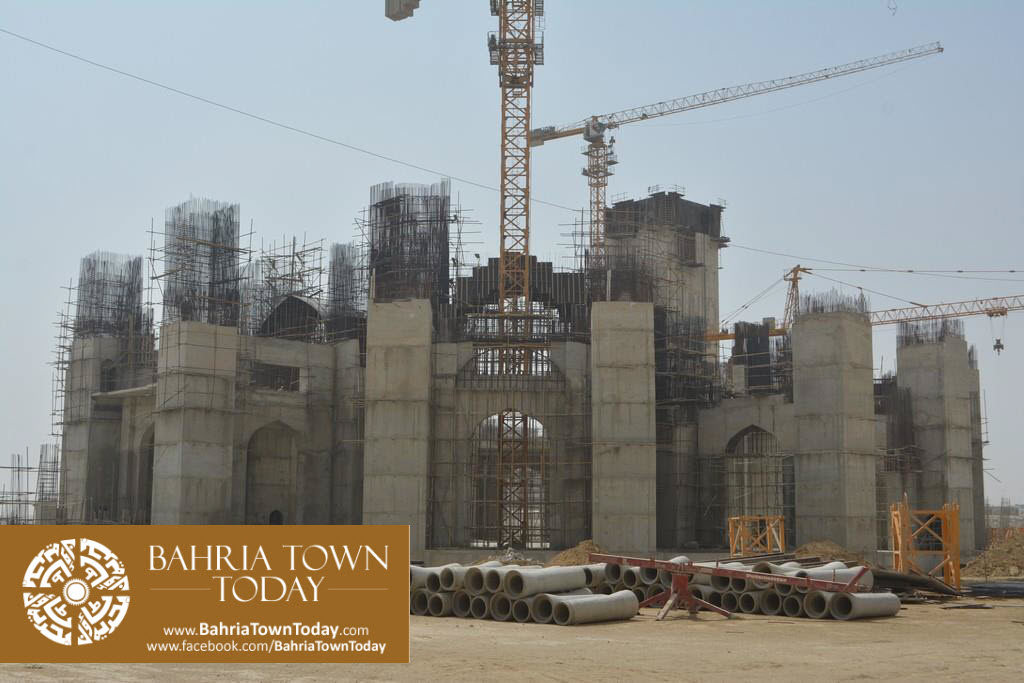 Grand Jamia Masjid Site Work Progress at Bahria Town Karachi – June 2016 (16)