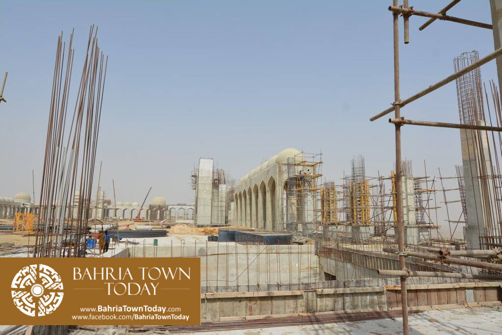 Grand Jamia Masjid Site Work Progress at Bahria Town Karachi – June 2016 (18)