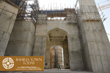 Grand Jamia Masjid Site Work Progress at Bahria Town Karachi - June 2016 (19)