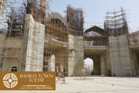 Grand Jamia Masjid Site Work Progress at Bahria Town Karachi - June 2016 (2)