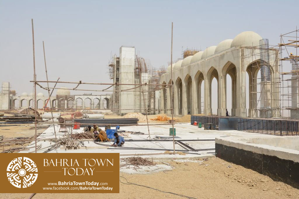 Grand Jamia Masjid Site Work Progress at Bahria Town Karachi – June 2016 (20)