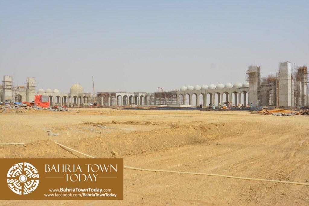 Grand Jamia Masjid Site Work Progress at Bahria Town Karachi – June 2016 (3)