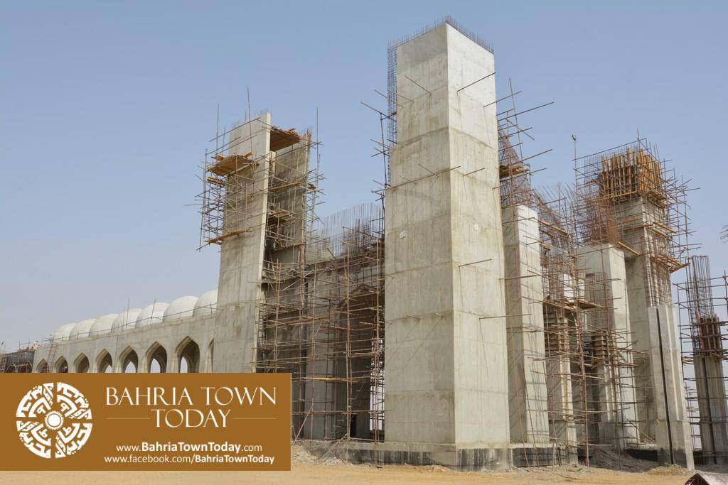 Grand Jamia Masjid Site Work Progress at Bahria Town Karachi – June 2016 (4)