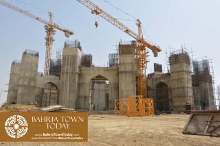 Grand Jamia Masjid Site Work Progress at Bahria Town Karachi - June 2016 (5)