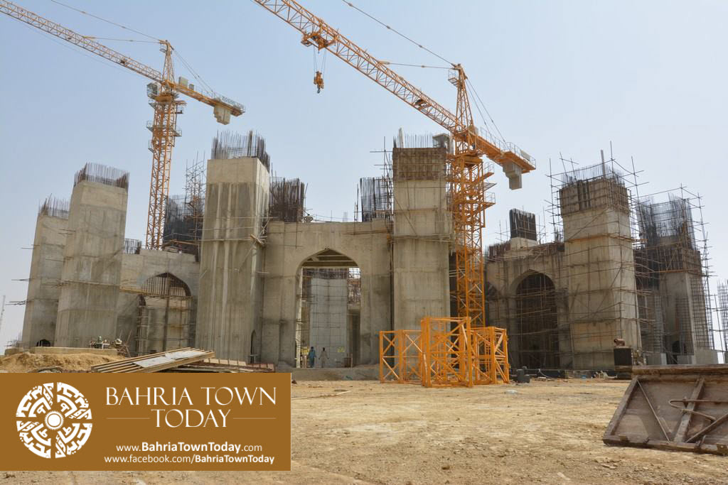 Grand Jamia Masjid Site Work Progress at Bahria Town Karachi – June 2016 (5)