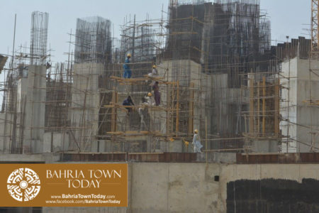 Grand Jamia Masjid Site Work Progress at Bahria Town Karachi - June 2016 (6)