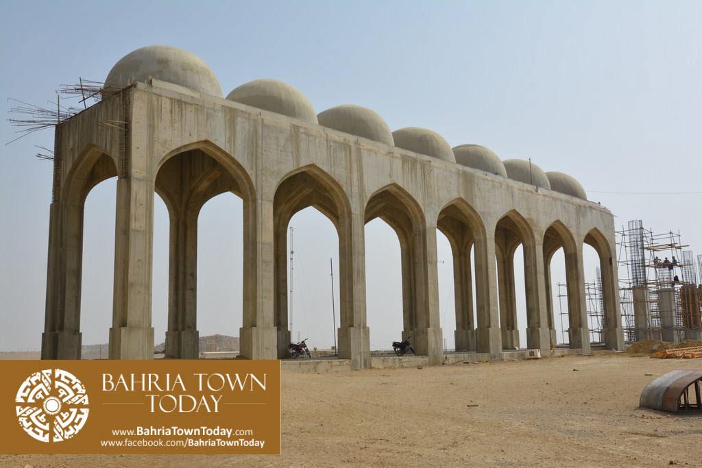 Grand Jamia Masjid Site Work Progress at Bahria Town Karachi – June 2016 (7)