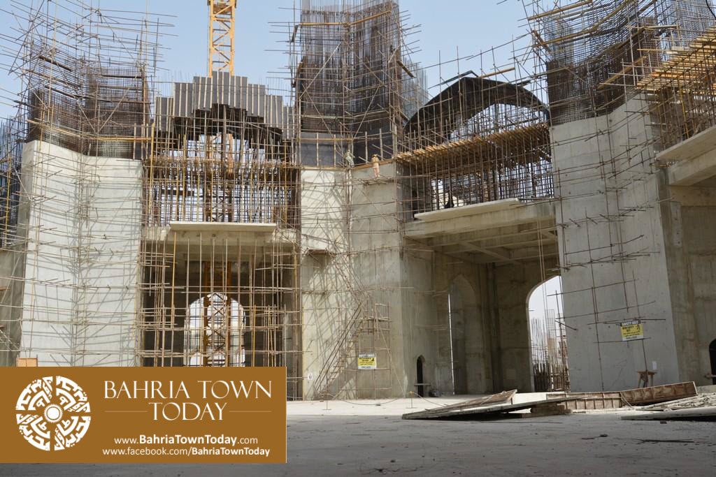 Grand Jamia Masjid Site Work Progress at Bahria Town Karachi – June 2016 (8)