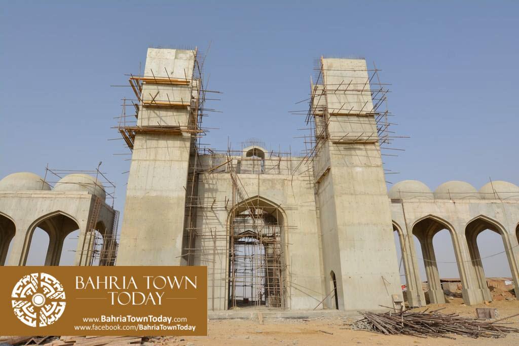 Grand Jamia Masjid Site Work Progress at Bahria Town Karachi – June 2016 (9)