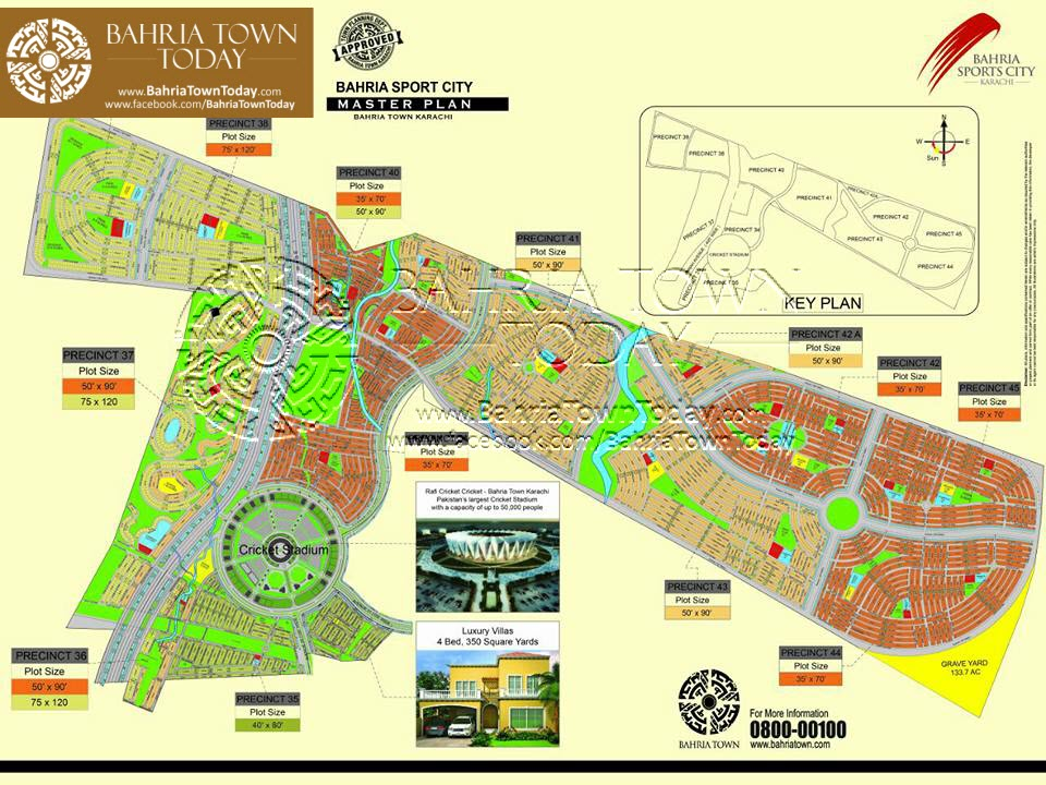 Bahria Sports City Karachi - Master Plan Map
