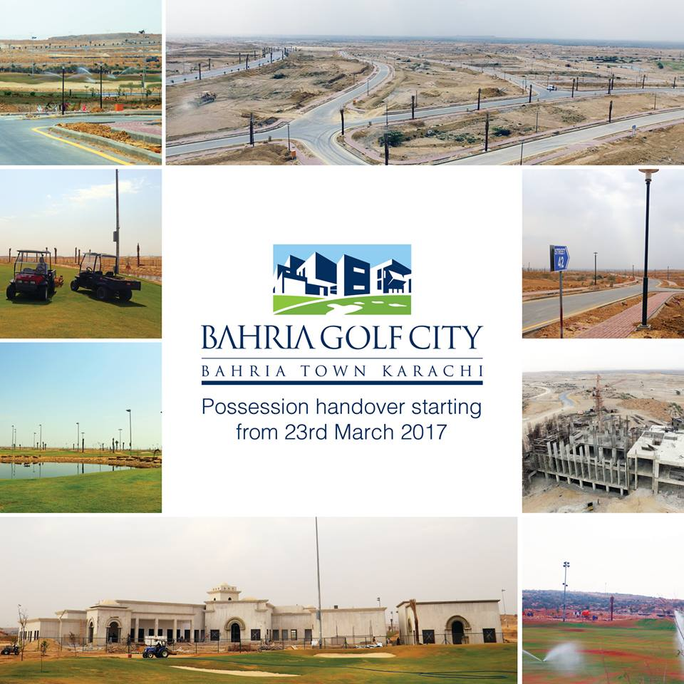 Bahria Golf City Karachi Possession Handover Starting from 23rd March 2017