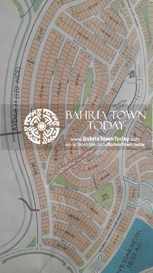 Bahria Town Karachi – Bahria Hills Master Plan Map (1)