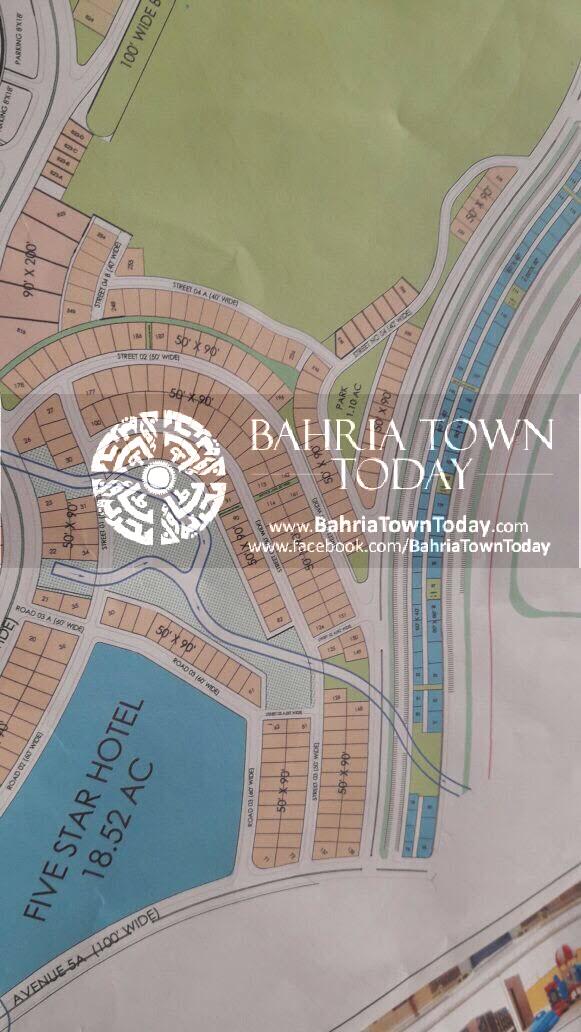 Bahria Town Karachi – Bahria Hills Master Plan Map (3)
