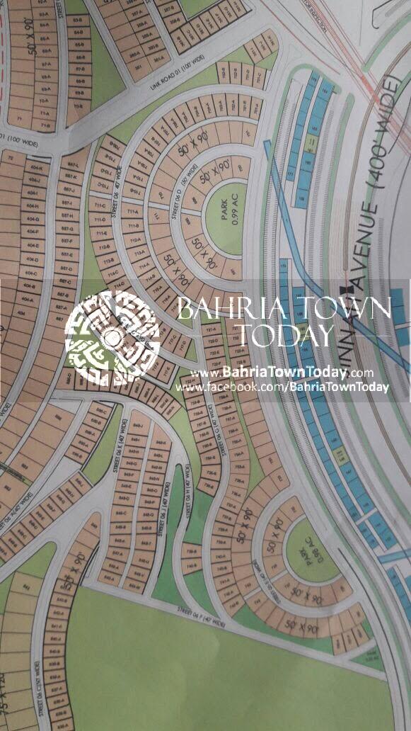 Bahria Town Karachi – Bahria Hills Master Plan Map (5)