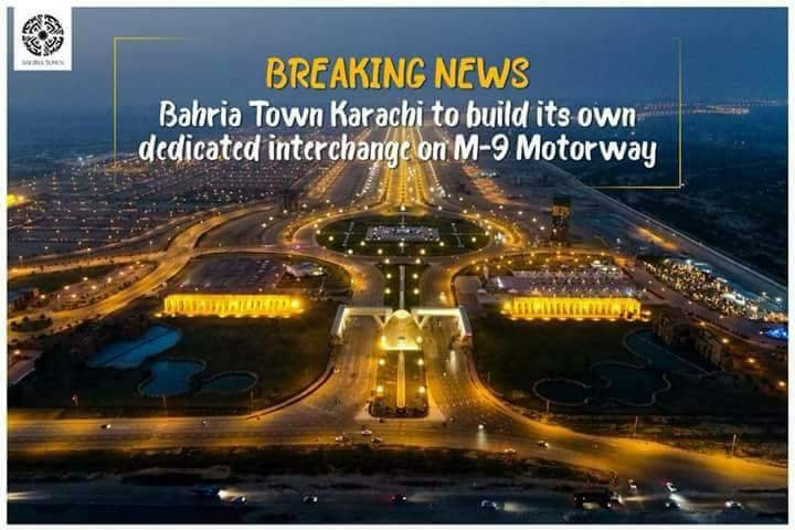 Bahria Town Karachi signs agreement with FWO for Interchange on M-9 Motorway