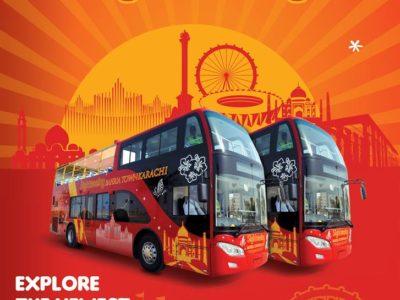 Bahria Town Karachi SightSeeing Tour Bus