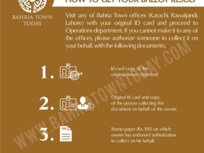 How to get your Bahria Town Karachi Ballot Results – May 2018