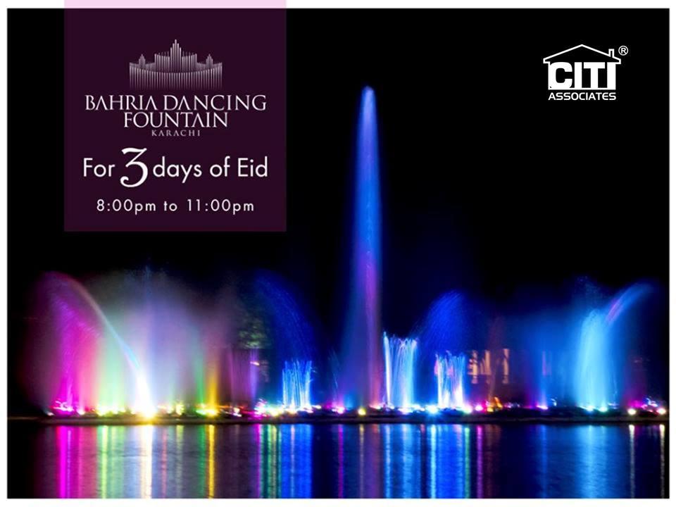 Enjoy at Bahria Dancing Fountain Karachi for 3 Days of Eid