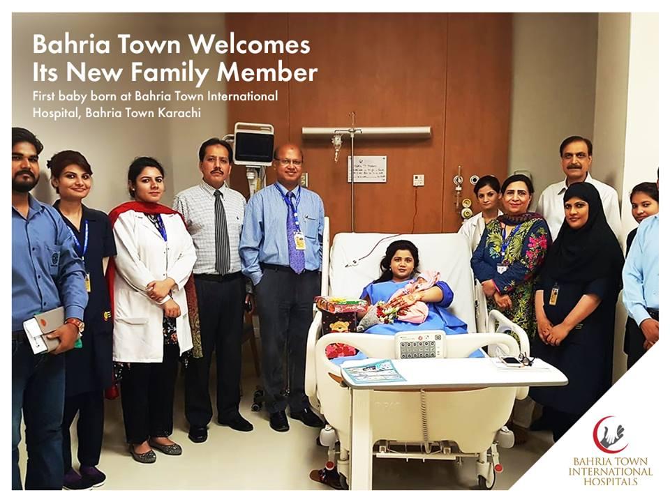 First Baby Born at Bahria International Hospital – Bahria Town Karachi
