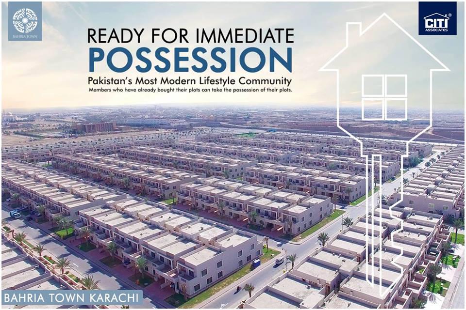 Bahria Town Karachi Announces Possession – October 2018