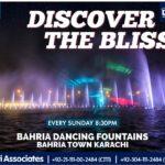 Discover the Bliss   Bahria Dancing Fountain Karachi