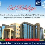 Eid Holidays Notification | Bahria Town Karachi