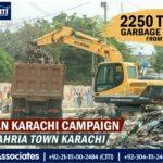 2250 Tons Garbage Lifted from Korangi Karachi by Bahria Town Karachi