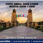 Enjoy Exotic Animal Show & Musical Show | Bahria Town Karachi