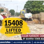 15408 Tons Garbage Lifted District Korangi by Bahria Town Karachi