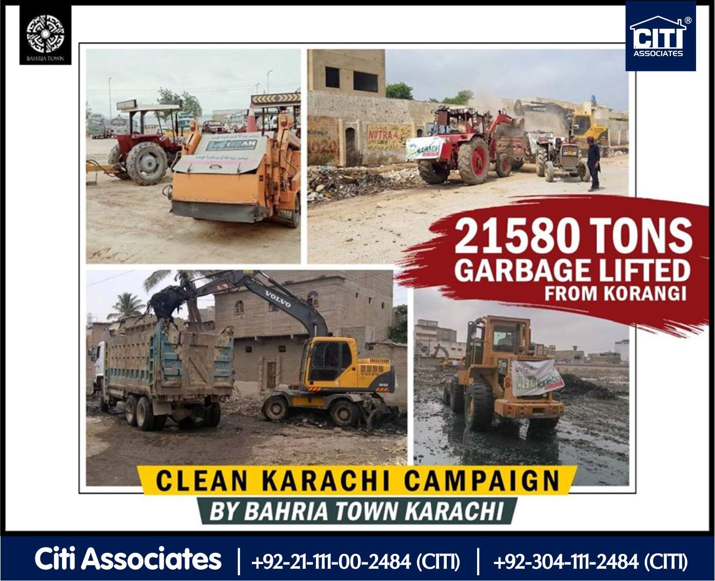 21580 Tons Garbage Lifted from Korangi by Bahria Town Karachi