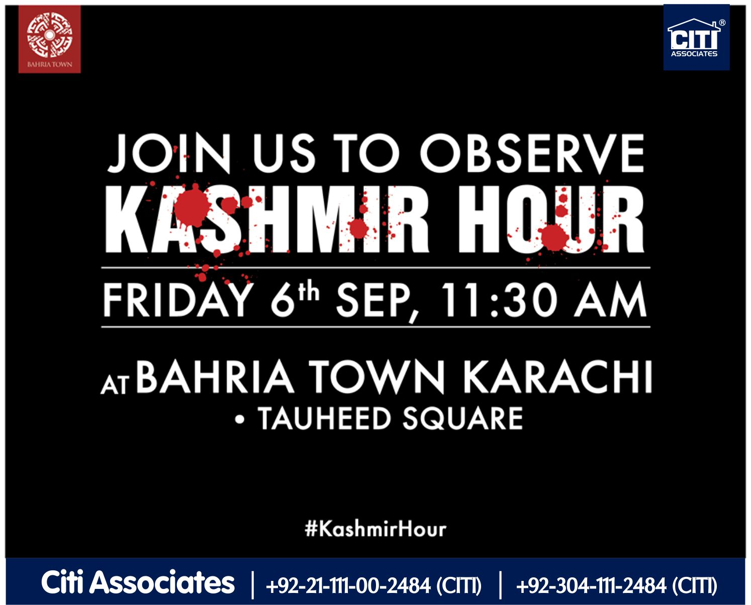 Join in to Express Solidarity With Our Kashmiri Brothers | Bahria Town Karachi