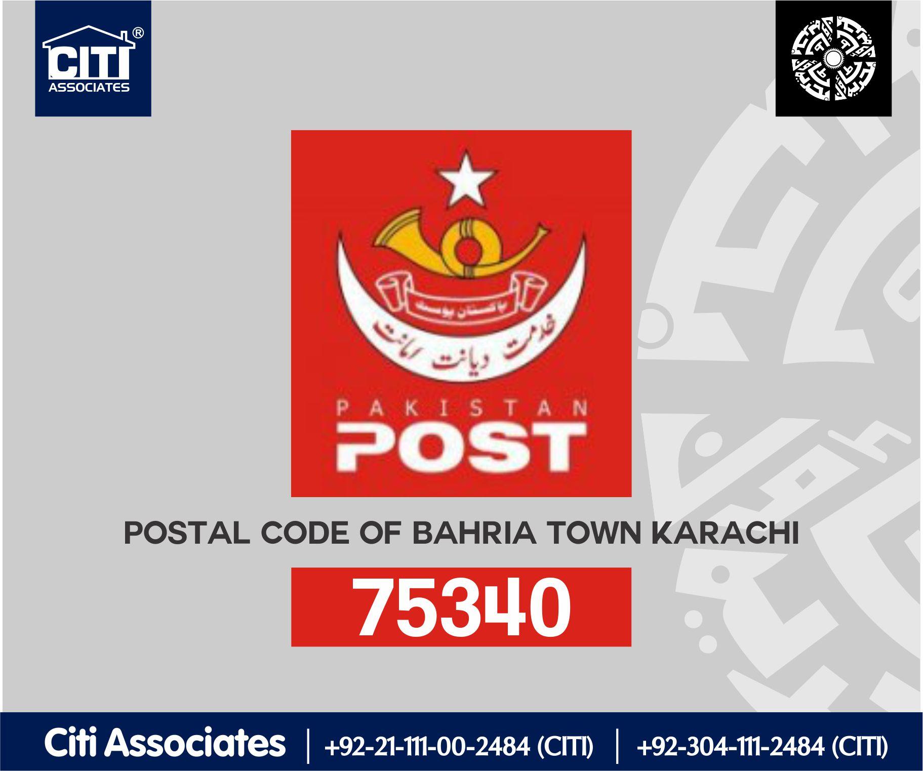 Postal Code of Bahria Town Karachi