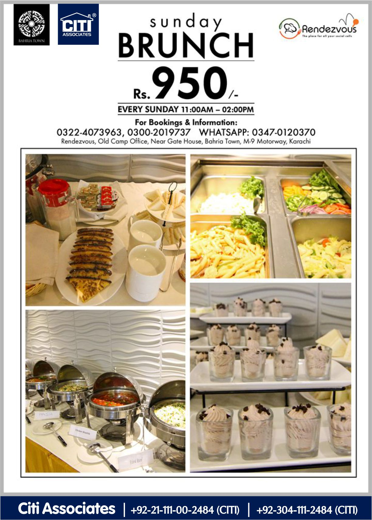 Rendezvous | A Sunday Brunch is Always a Good Idea | Bahria Town Karachi